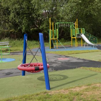 Playground equipment at Smithy Green Play Park