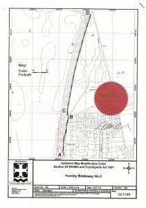 Map of Formby Bridleway No.2 Confirmation