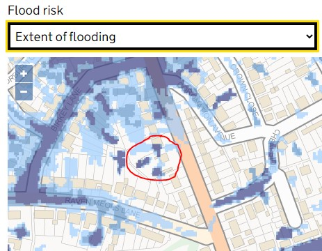 Flood Map of 30 Liverpool Road